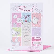 50th birthday card special friend only 1 49