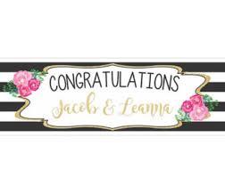 wedding congratulations banner congratulations banner etsy
