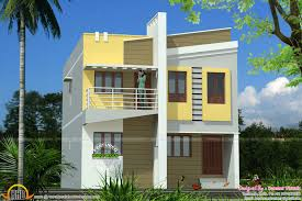 flat house design sqfeet floor plan and elevation kerala ideas small building only