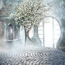 photography backdrop allenjoy wedding background tree garden door photo