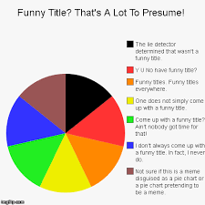 Pie Chart Generator Meme - funny title that s a lot to presume imgflip
