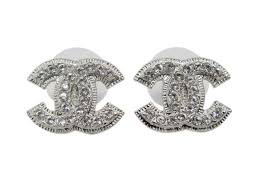 cc earrings chanel cc logo stud earrings a37272