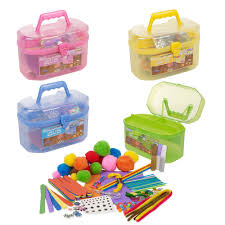 127 piece children u0027s arts u0026 craft set case carry handle girls boys