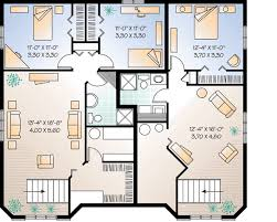 house plans with apartment three unit apartment house plan 21428dr architectural designs