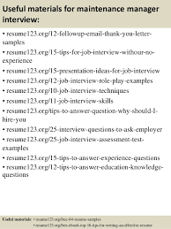 Sample Resume Maintenance by Top 8 Maintenance Manager Resume Samples