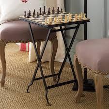 folding metal chess table oka