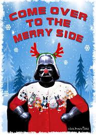 wars christmas wars christmas cards dart vader christmas by artofthepage