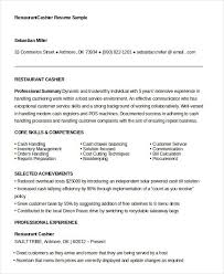 resume cashier sle responsibilities sle best fast food