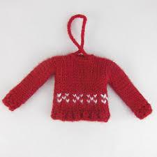 ravelry tiny knit sweater ornaments pattern by kathy lewinski