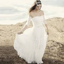 clearance wedding dresses boho hippie tiers of lace wedding gown summer clearance the