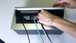 conference table pop up through desk mount pop up letter box av housing youtube