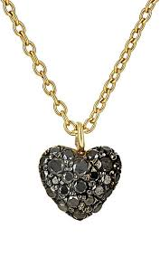 black heart necklace images Finn black diamond puffed heart necklace barneys new york