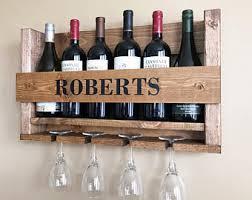 wedding gift wine rack wall mounted wine rack personalized