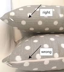 make a pillow cover with an invisible zipper no pins needed