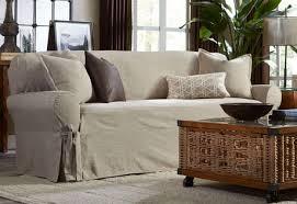 Slipcover For Leather Sofa by Sofa Linen Slipcover Sofa Rifpro Org