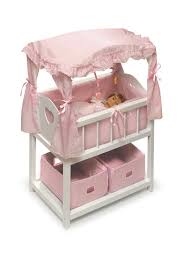 badger basket doll crib with cabinet amazon com badger basket canopy doll crib with baskets bedding