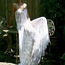 Honeymoon Nightgowns Silk Knit Lingerie Halter Nightgown From Sarafinadreams On