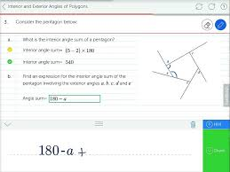 Interior Exterior Angles Mathspace Angles In And Angles Out