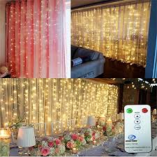 wedding backdrop with lights 3m 3m 9 8ft 9 8ft curtain string lights with remote led