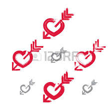 Hand Painted Love Anchors The - hand drawn red love heart icon brush drawing loving heart sign