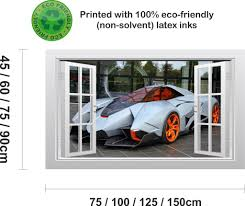 lamborghini egoista lamborghini egoista supercar 1 3d window scape wall art poster