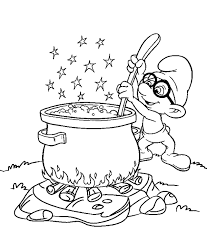 brainy smurf coloring print free download