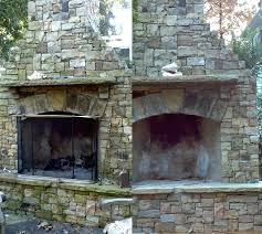 Outdoor Fieldstone Fireplace - cleaning stone fireplace hearth fireplaces surround faux veneer