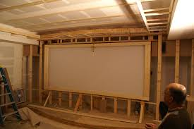 How To Hang A Projector Screen From A Drop Ceiling by Theaterblog Installing The Starfield Ceiling