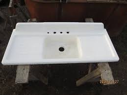 vintage cast iron sink drainboard vtg antique cast iron sink double drain board porcelain farm salvage