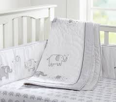 Crib Bedding Set With Bumper Organic Taylor Baby Bedding Set Pottery Barn Kids