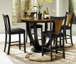 kitchen table round small high top glass drop leaf 8 seats bronze