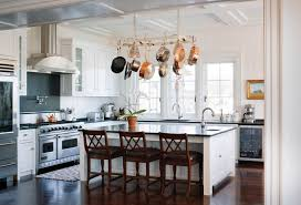 kitchen island with hanging pot rack how to choose the right rack for hanging pots and pans