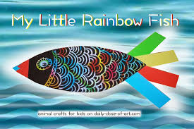 animal crafts for kids 1 rainbow fish daily dose of art