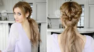 messy braid hairstyle for long hair messy braided boho ponytail