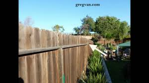 how to do a visual fence post inspection wood fencing repair