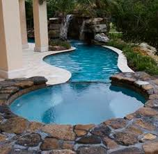pool waterfall ideas in the corner warrens and rabbits