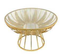 Glass Accent Table Palm Leaf Metal Glass Accent Table Gold Sagebrook Home
