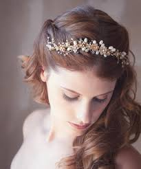 flower hair accessories golden flower hair vine gold bridal hair vine bridal hair