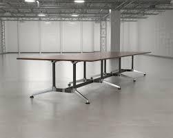 White Boardroom Table New White Boardroom Table Silver Black Frame Olg Modulus Ebay