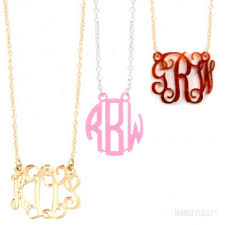 Circle Monogram Necklace Monogram Necklace Marleylilly