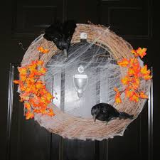 diy cute and simple halloween wreath youtube