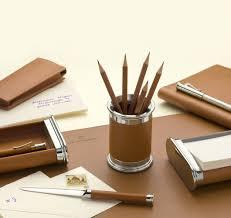 accesoires de bureau gvfc set d accessoires de bureau cuir epsom grainé