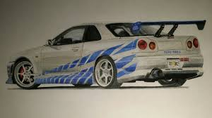nissan skyline r34 paul walker 2 fast 2 furious r34 skyline said mrkaljevic draw to drive