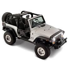 matte black jeep 2 door bushwacker jeep wrangler sport utility 2007 2017 flat style