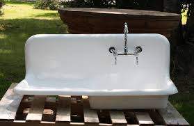 farmhouse sink with drainboard 1920 s cast iron porcelain drainboard farmhouse sink 42 x 20