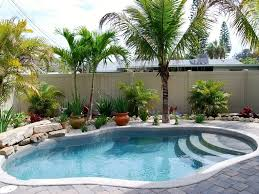 small backyard pools with floortile and nice stone edge simple