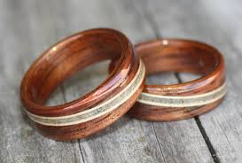 wood rings wedding wooden rings from touch wood rings finely handcrafted and custom