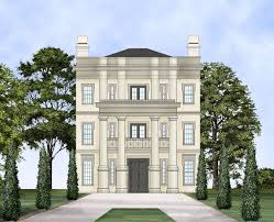 neoclassical home plans three story neo classical home plan 12240jl architectural