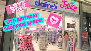 justice at the mall 12th birthday shopping spree mall vlog justice s