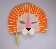 lion mask craft mer mag diy paper lion mask for national geo kids mer mag